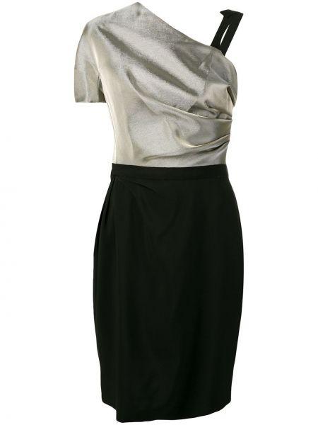 Платье на молнии со складками Lanvin