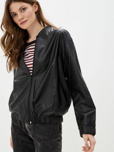 Кожаная черная кожаная куртка Massimiliano Bini