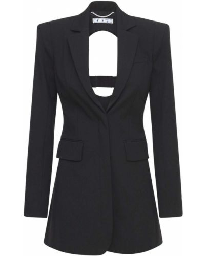 Открытый черный пиджак с карманами Off-white