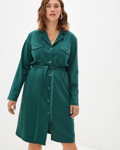 Платье рубашка - зеленое Svesta