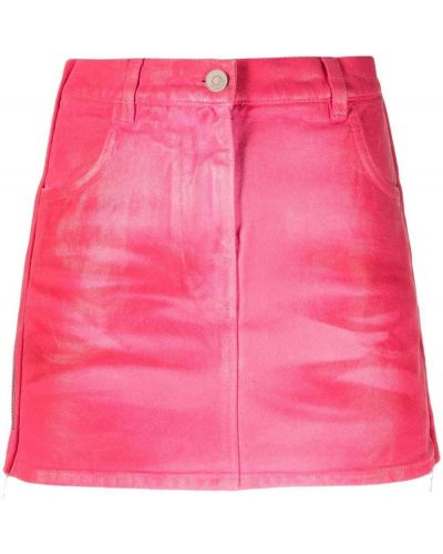 Różowa spódnica mini z paskiem bawełniana Givenchy