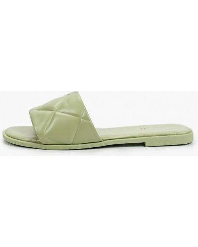 Зеленые кожаные сабо Marquiiz