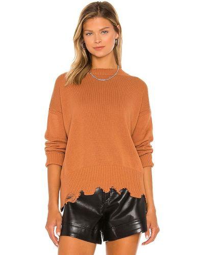 Пуловер классический - коричневый 525