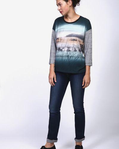 Синие джинсы с эффектом потертости Just Valeri