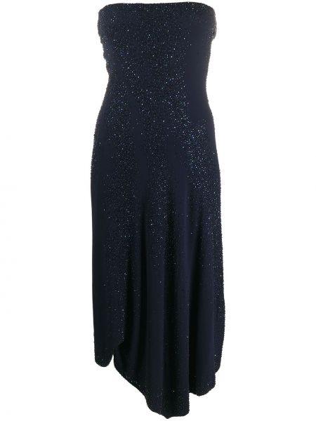 Синее платье из вискозы Donna Karan