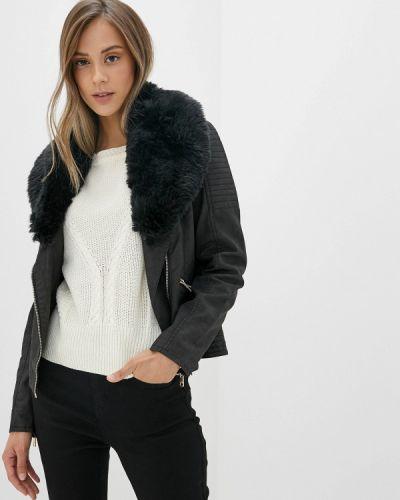 Кожаная куртка черная осенняя Only