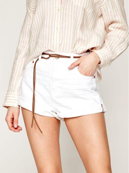 Szorty jeansowe - białe One Teaspoon