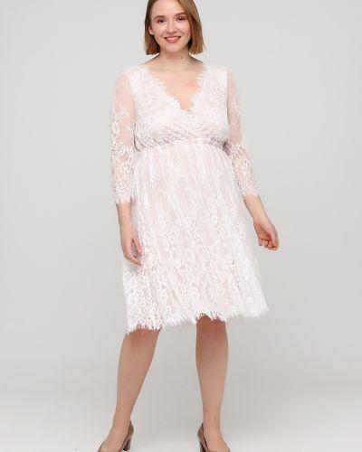 Свободное белое платье свободного кроя Goddiva