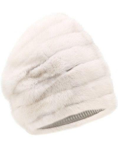 Белая шапка норковая Furland