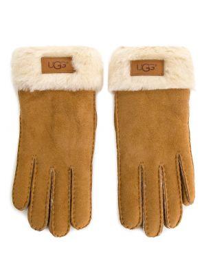 Skórzany rękawiczki zamsz Ugg