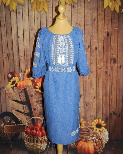 Джинсовое платье - голубое Novakoza