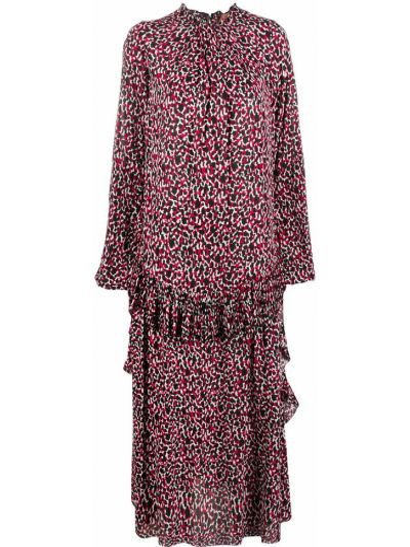 Платье миди с принтом - красное N°21
