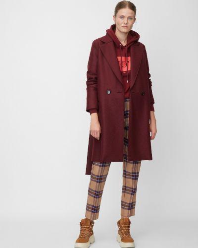 Красное шерстяное пальто с воротником Marc O' Polo