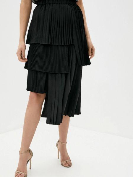 Черная плиссированная юбка N21
