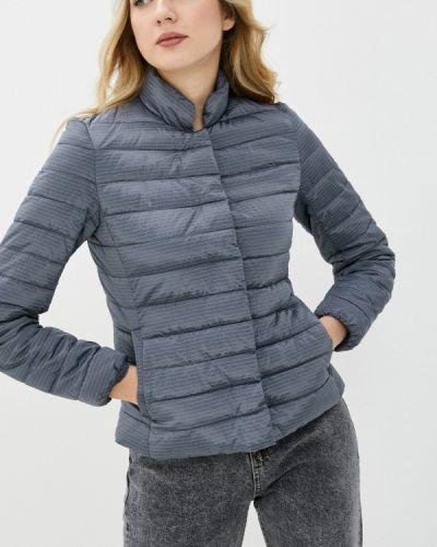 Утепленная серая куртка снежная королева