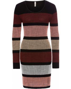 Платье в рубчик вязаное Bonprix