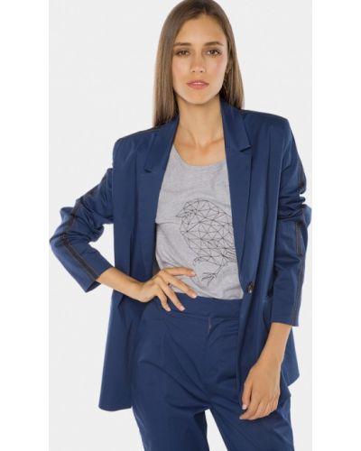 Синий пиджак осенний Mr520