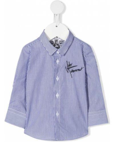 Синяя прямая юбка макси на пуговицах John Richmond Junior