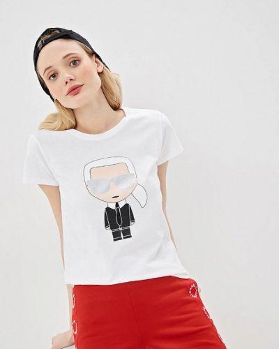 Белая футболка 2019 Karl Lagerfeld
