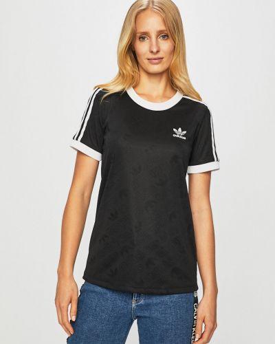 Футболка черная со вставками Adidas Originals