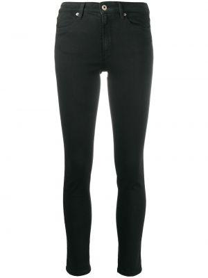 Хлопковые облегающие черные джинсы-скинни Dondup