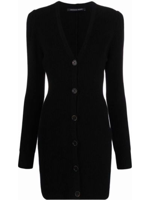 Платье в рубчик - черное Antonino Valenti
