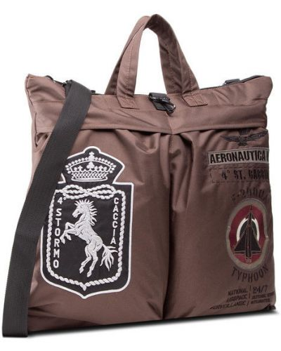 Brązowy plecak Aeronautica Militare