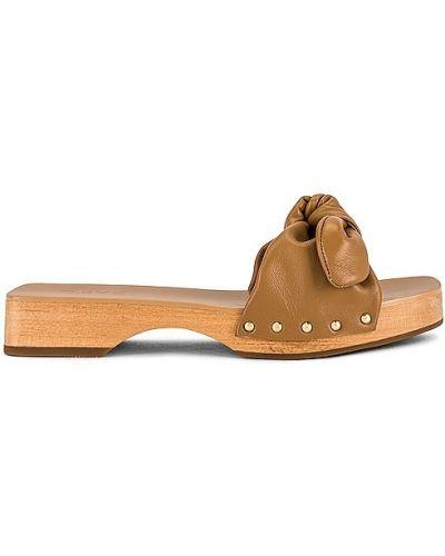 Sandały na platformie skorzane na obcasie Raye