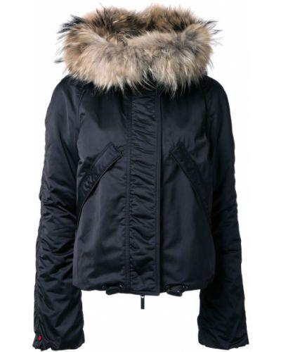 Черная куртка с капюшоном Kru