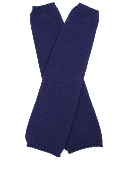 Синие классические шелковые перчатки длинные эластичные Panicale