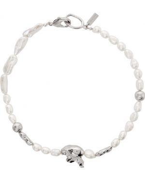Серебряное ожерелье с жемчугом Mounser