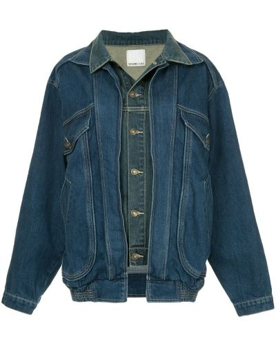Синяя джинсовая куртка свободного кроя на пуговицах Ground Zero