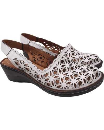 Кожаные туфли - белые Trio Trend