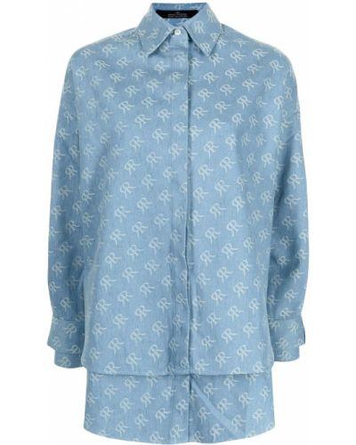 Niebieska klasyczna koszula Rokh