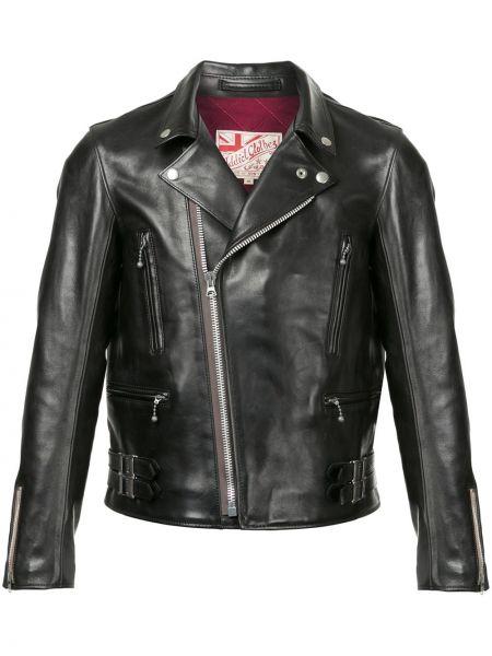 Кожаная классическая черная кожаная куртка Addict Clothes Japan