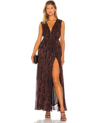 Шифоновое вечернее платье - коричневое Rococo Sand