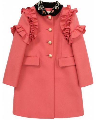 Розовое пальто Gucci