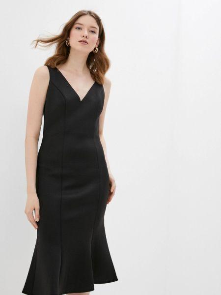 Платье прямое черное Chi Chi London