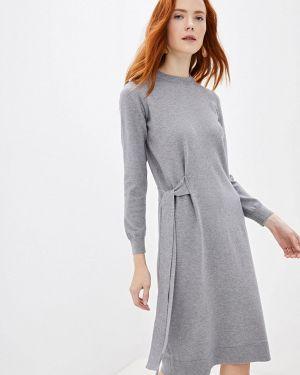 Платье серое прямое Incity
