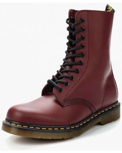 Кожаные ботинки осенние на каблуке Dr Martens
