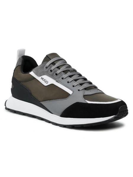 Buty sportowe skorzane - szare Hugo