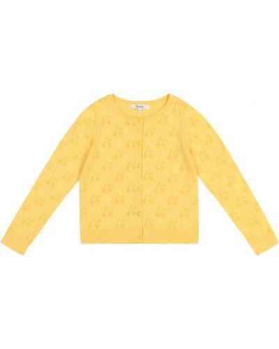 Bawełna żółty bawełna kardigan Bonpoint