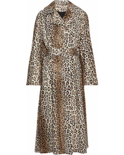 Płaszcz dwurzędowy z paskiem bawełniany z printem Emilia Wickstead