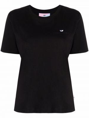 Черная футболка короткая Chiara Ferragni