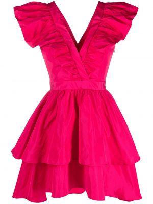 Красное платье без рукавов с вырезом Pinko