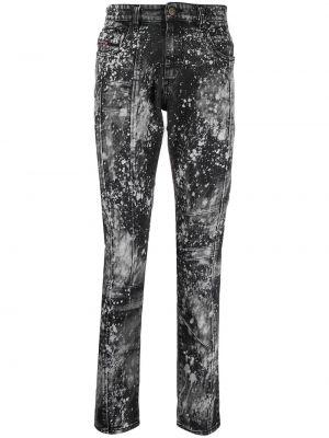 Klasyczne czarne jeansy skorzane Diesel