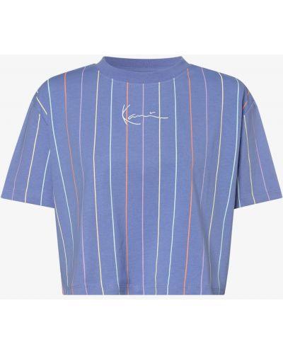 Niebieska t-shirt w paski Karl Kani