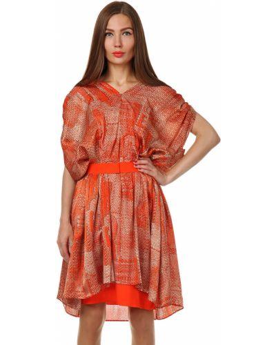 Платье из вискозы - оранжевое Jean Paul Gaultier