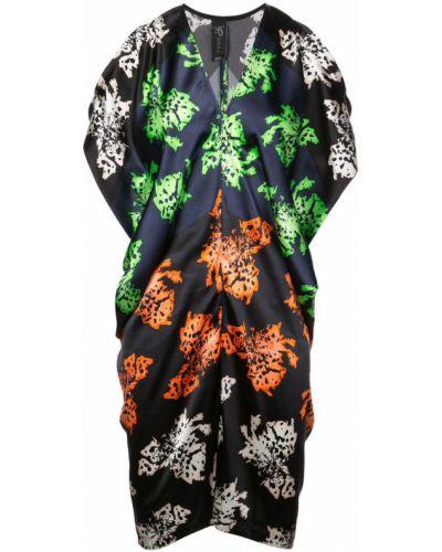 Платье с V-образным вырезом - черное Zero + Maria Cornejo