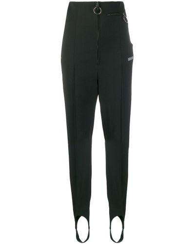 Czarne spodnie z wysokim stanem materiałowe Off-white